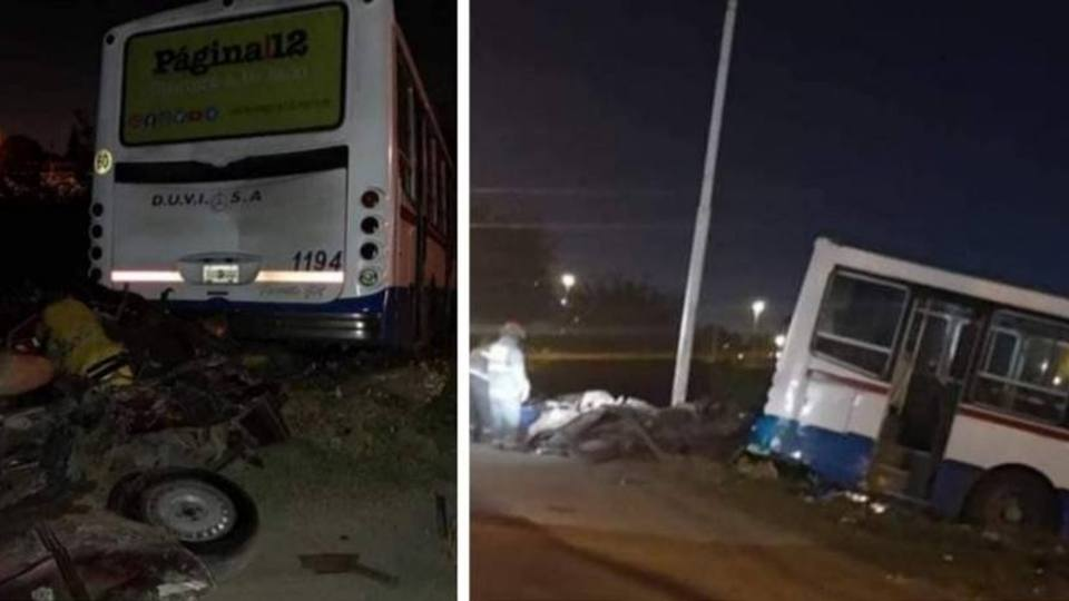 González Catán: Colectivo de la línea 86 chocó contra un auto y mató al conductor
